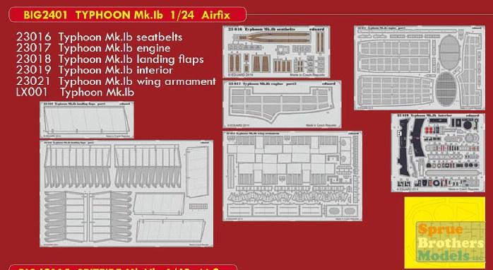 EDUARD BIG ED 2401 Detail Set for Airfix® Kit Typhoon Mk.Ib in 1:24