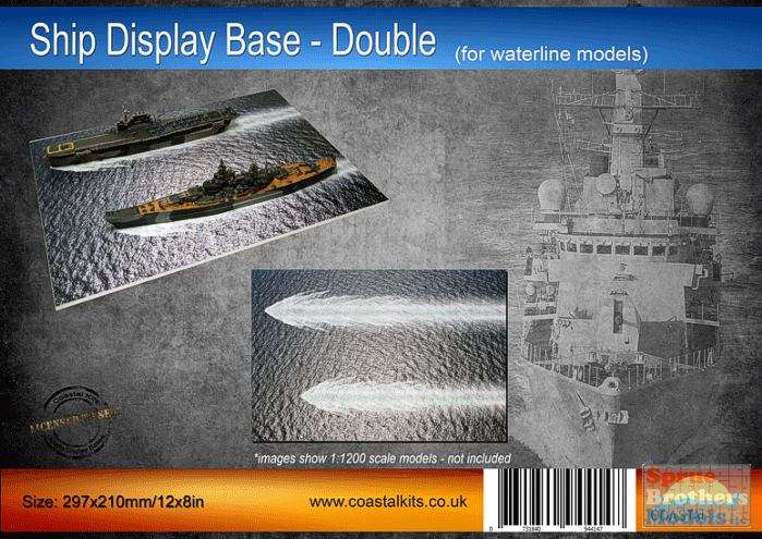 Coastal Kits Ship Display Base 02 for waterline models