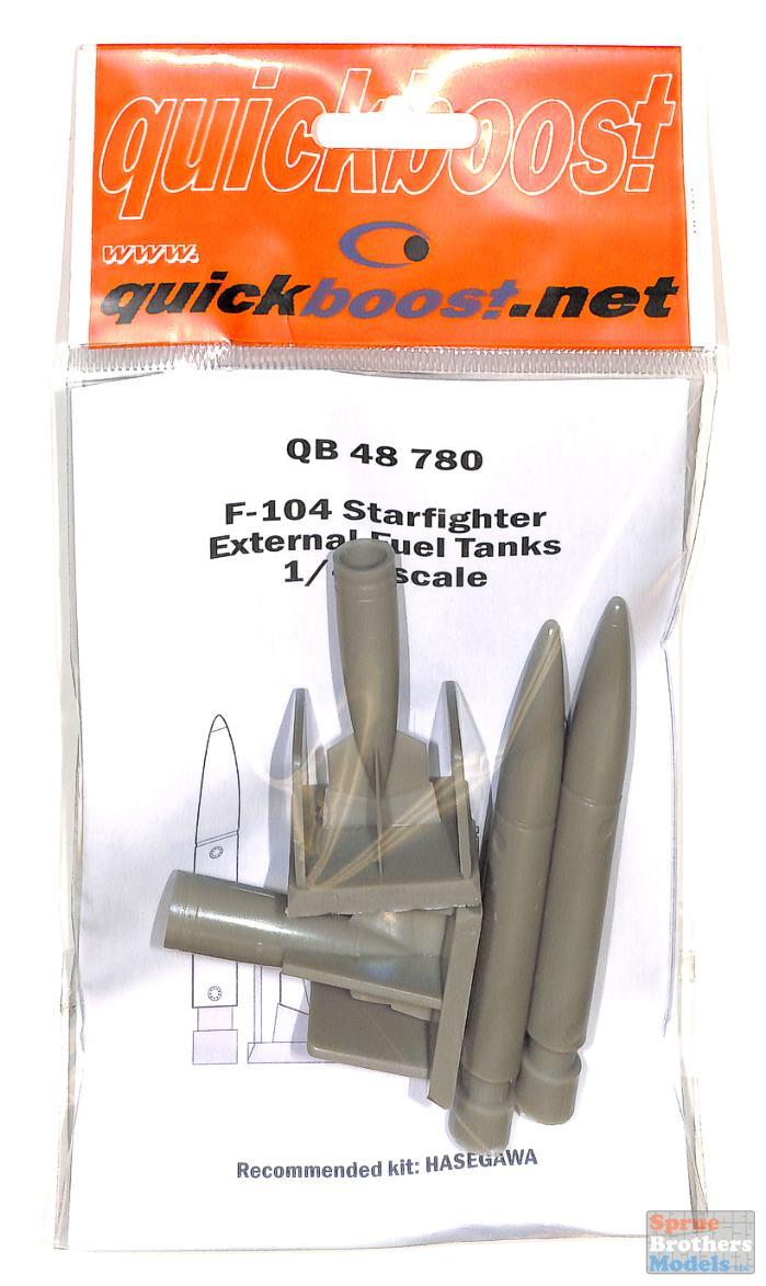 Ne Quickboost 48780-1:48 F-104 Startfighter external fuel tanks for Hasegawa