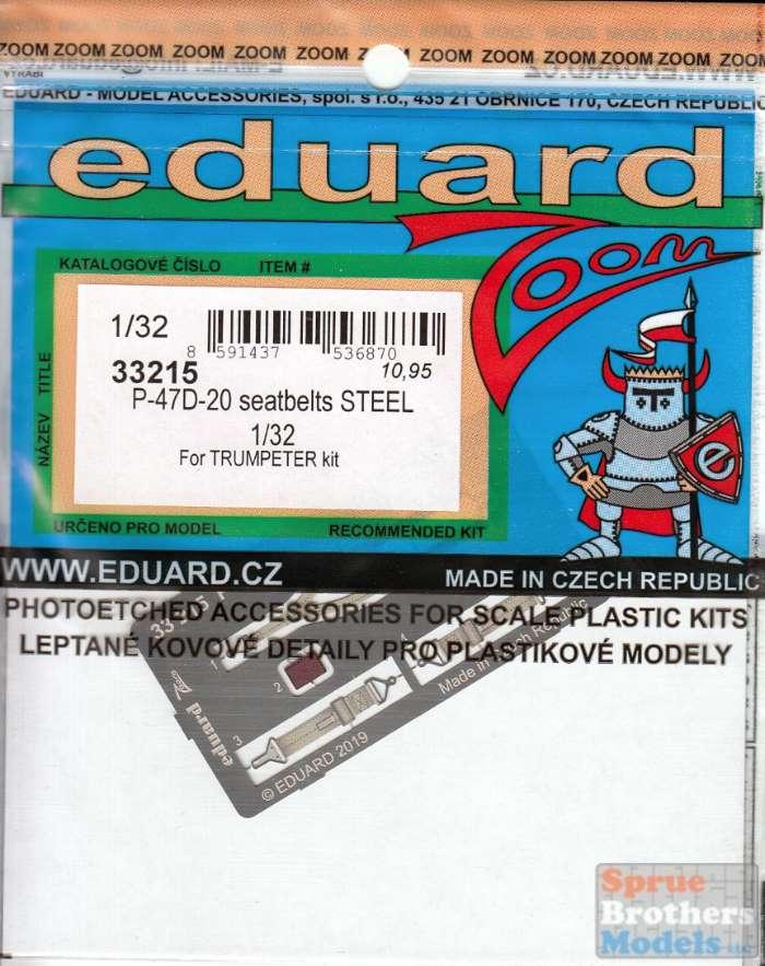 Eduard Zoom 33215 1//32 Republic P-47D-20 Thunderbolt Seatbelts Steel Trumpeter