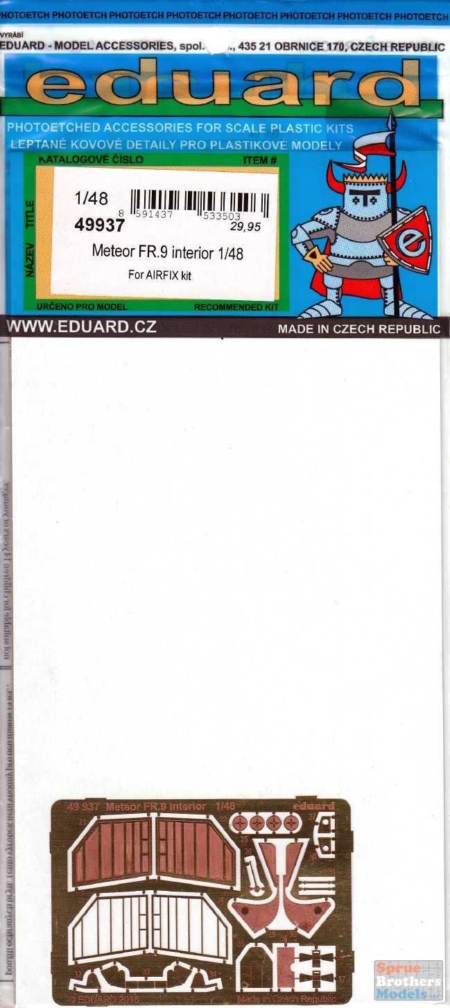 EDUARD 49937 Detail Set for Airfix® Kit Meteor FR.9 in 1:48
