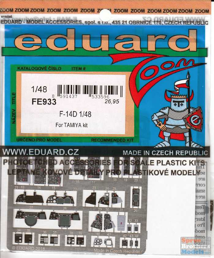 EDUARD ZOOM FE933 Detail Set for Tamiya Kit F-14D in 1:48