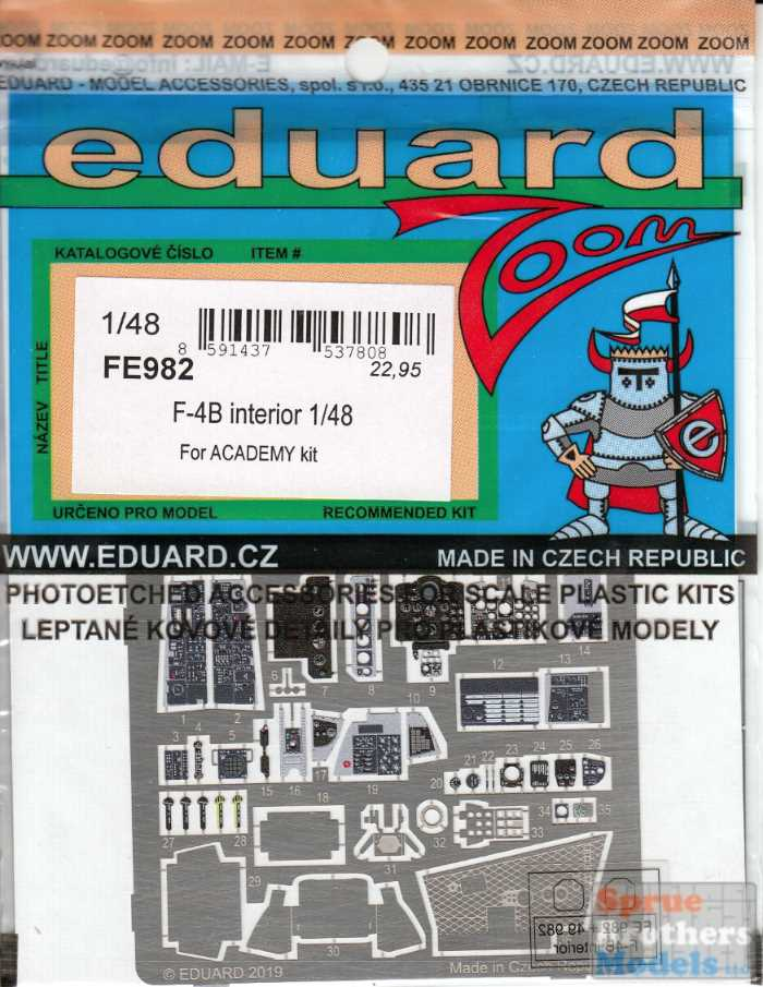 Eduard Accessories FE982 F-4B interior for Academy in 1:48